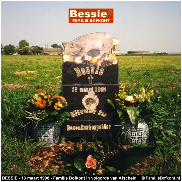 BESSIE - 13 maart 1998 - Familie Bofkont in volgorde van Afscheid
