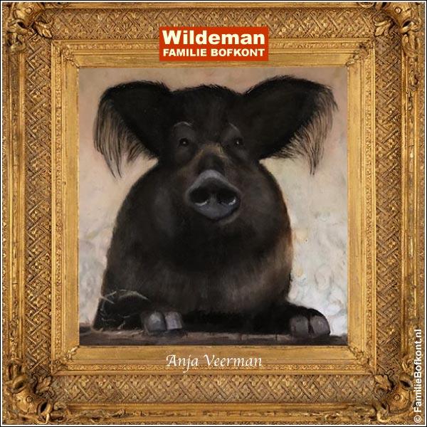 WILDEMAN - schilderij door Anja Veerman